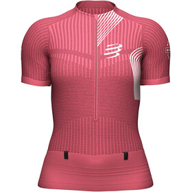 Compressport Trail Postural SS Top Women, garnet rose